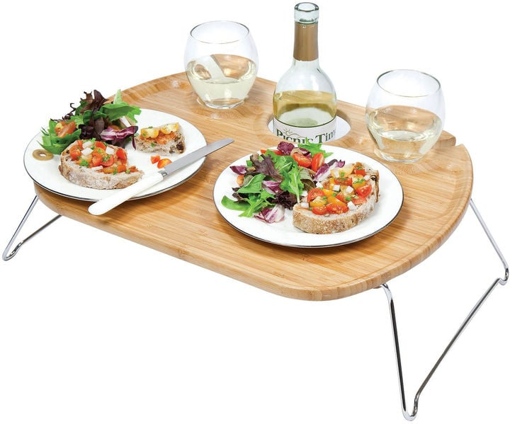 Picnic Time Portable Wine Tray