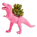 Plaid Pigeon T-Rex Faux Planter
