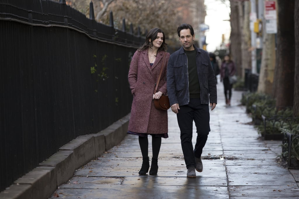 Paul Rudd is starring in his own Netflix show alongside . . . himself?! An existential comedy series, Living With Yourself stars Rudd as Miles, a man struggling with his work life and his marriage. After a colleague tips off Miles about a spa treatment that promises to make him a better person, he discovers he's been replaced by a new and improved version of himself (also played by Rudd), which likely means double the trouble Ant-Man could ever get himself into.  Living With Yourself is told from multiple perspectives and follows Miles as he deals with the unexpected consequences of his actions — including fighting to keep his wife, Kate (Aisling Bea), his career, and his entire identity. The series, which features Rudd in his first leading role in a television show, will consist of eight 30-minute episodes executive produced by Timothy Greenberg and directed by Jonathan Dayton and Valerie Faris. Keep scrolling to see a few snaps from the show, and prepare to binge the full series on Oct. 18.      Related:                                                                                                           Netflix's New Series Is a Murderous Mix of Black Mirror and Fyre Fest — Watch the Trailer