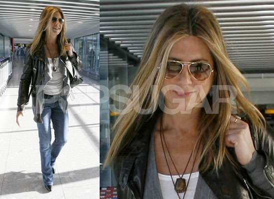 Photos of Jennifer Aniston at Heathrow Airport