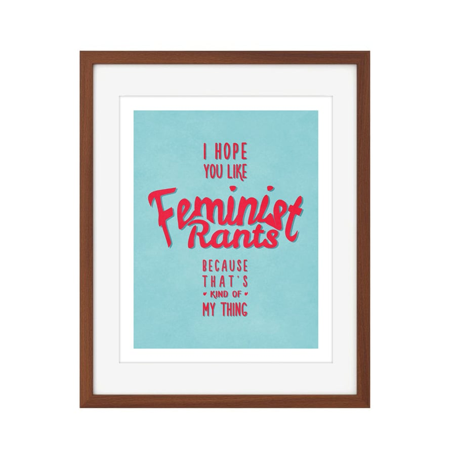 Feminist Rants Wall Art ($15)