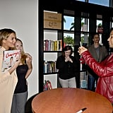 John backed away from the spotlight and let Chrissy have her moment at her cookbook signing in Miami in February 2016.
