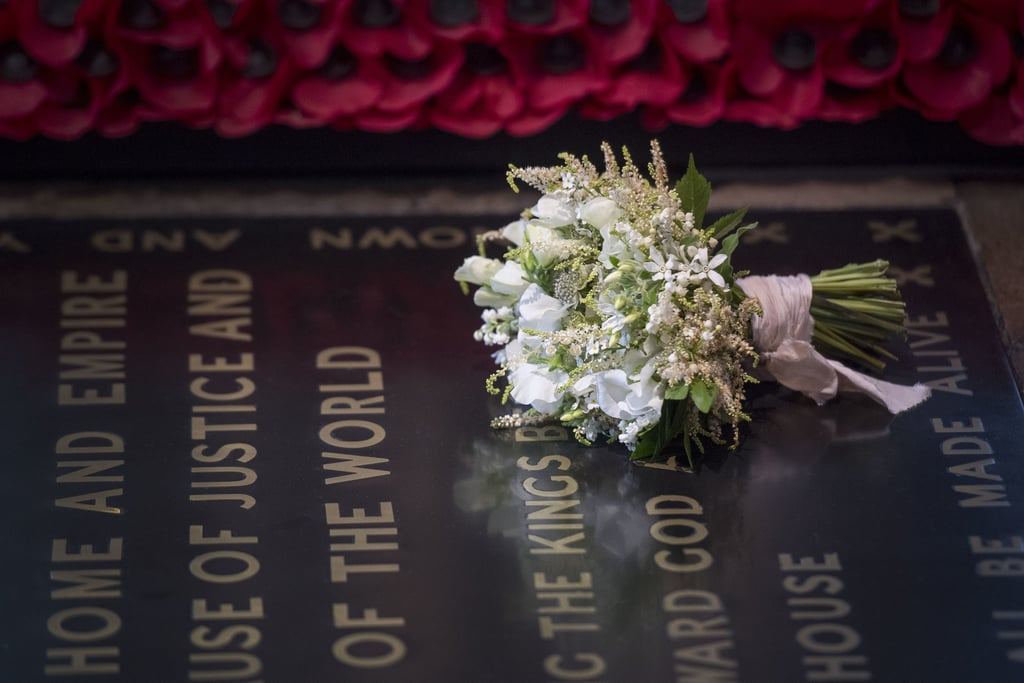 On Your Wedding Day By Unknown: Meghan Markle's Wedding Bouquet On Unknown Soldier's Grave