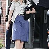 Kate Winslet was on the set of Labor Day in Massachusetts.