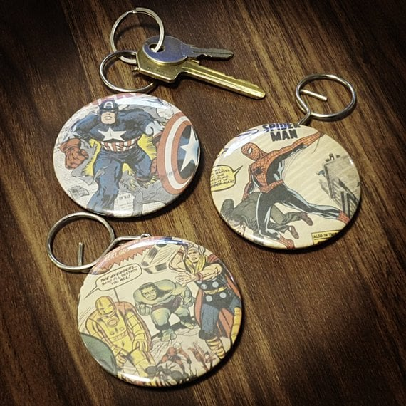 Marvel Superhero Keyring