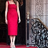 Melania in Valentino, April