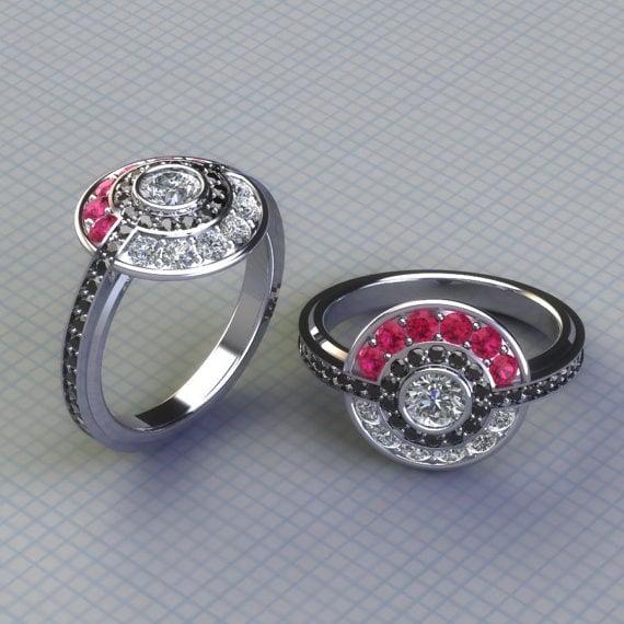 pokmon - Gamer Wedding Rings