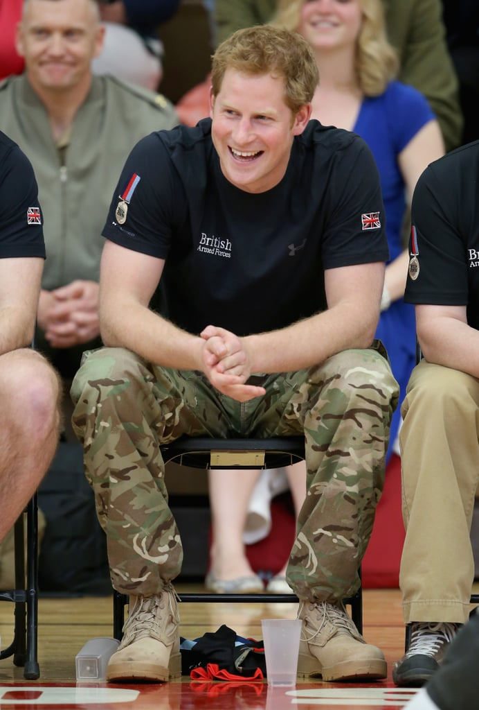 Prince Harry cheered on the UK teams while attended the Warrior Games on Saturday in Colorado Springs, CO.