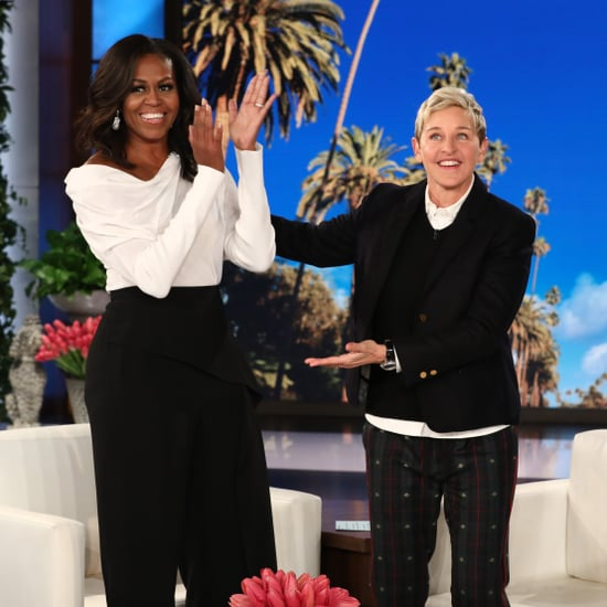 Michelle Obama's Black Roland Mouret Pants