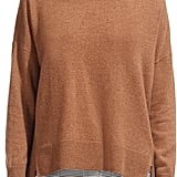 Whistles Horizontal Ribbed-Knit Cashmere Turtleneck Sweater