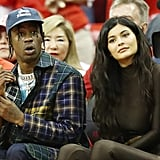 Kylie Jenner Wearing Leather at Basketball Game