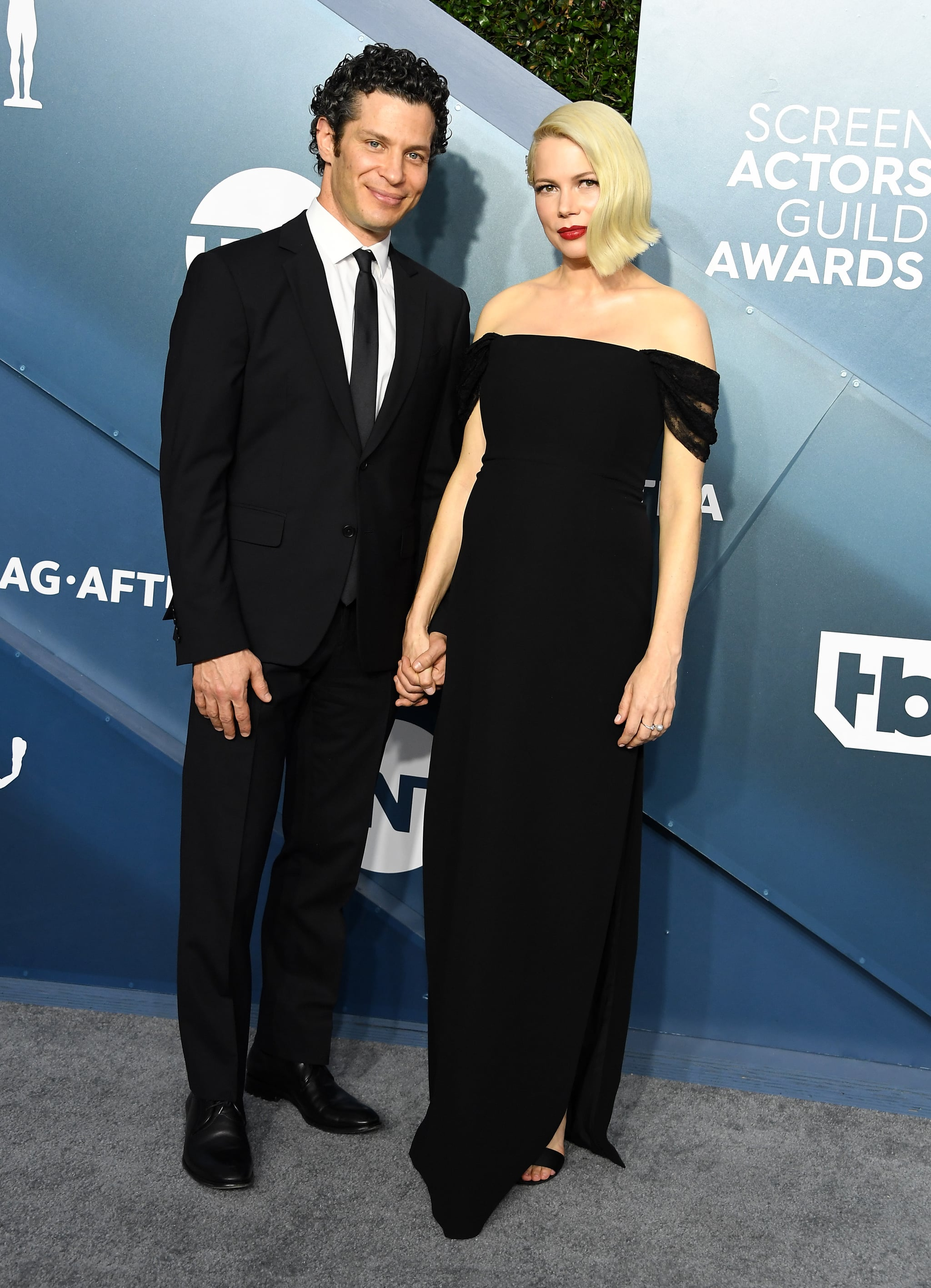 LOS ANGELES, CALIFORNIA - JANUARY 19: Thomas Kail and Michelle Williams arrives at the 26th Annual Screen Actors Guild Awards at The Shrine Auditorium on January 19, 2020 in Los Angeles, California. (Photo by Steve Granitz/WireImage)