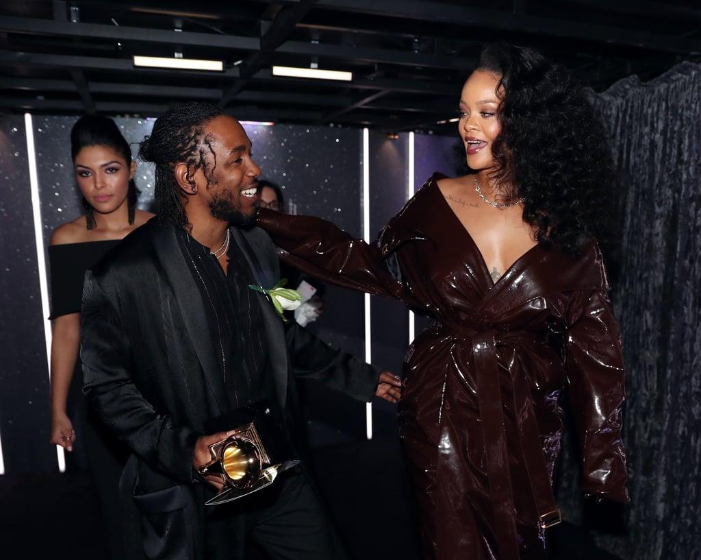 Pictured: Kendrick Lamar and Rihanna