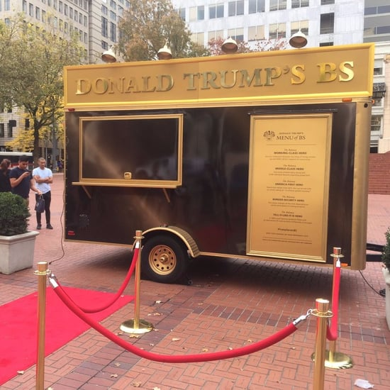 Pictures of the Donald Trump Food Truck in Portland