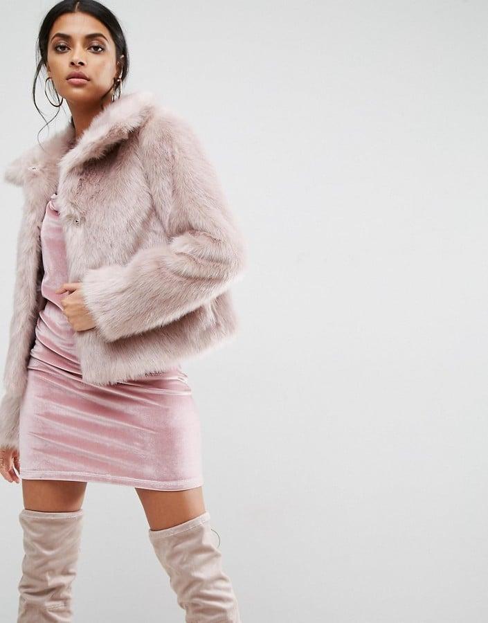 ASOS Chubby Vintage Faux Fur Coat