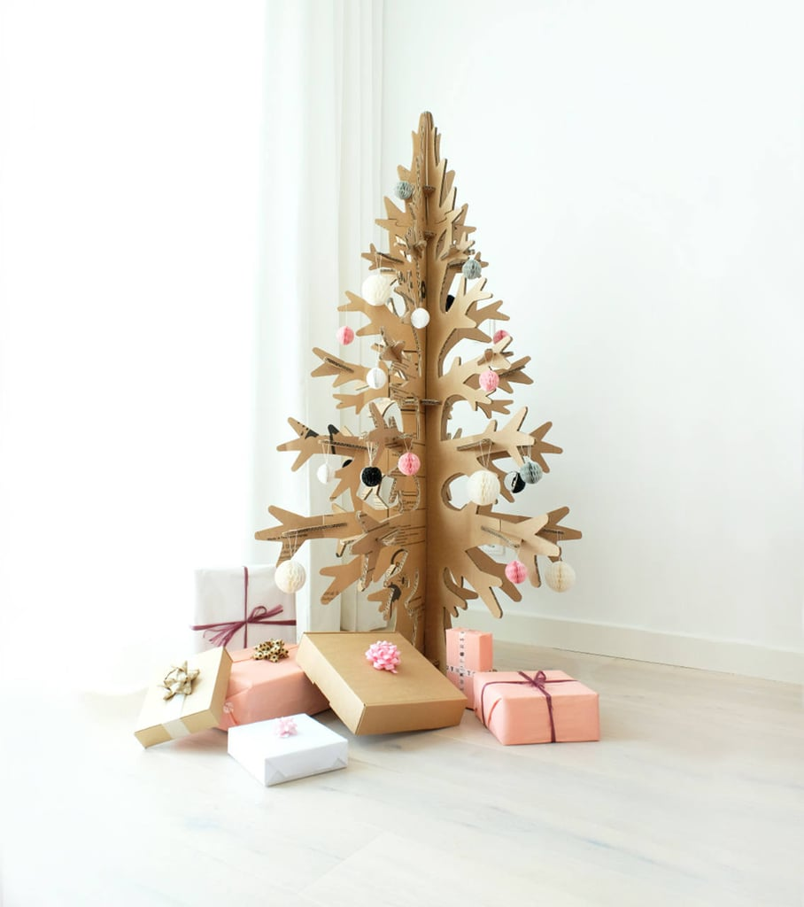 For an on-trend tree option that also allows you to avoid constantly vacuuming up pine needles, Etsy shoppers are opting to purchase an eco-friendly Cardboard Cut-Out Christmas Tree ($122) in lieu of a real one.