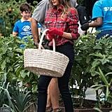 Melania's Balmain Gardening Shirt