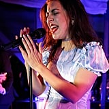 Charli XCX performed at the Delta Air Lines party.