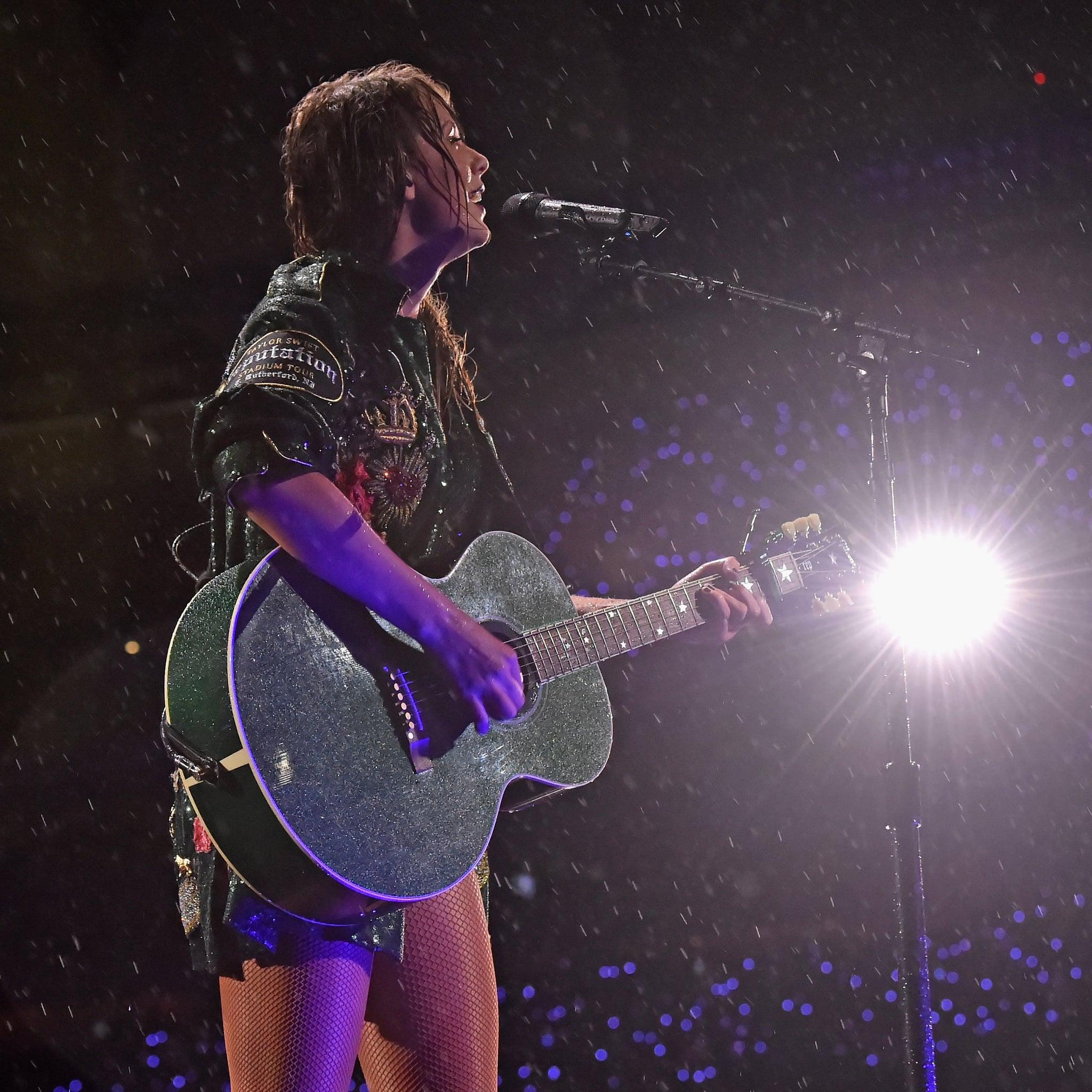 Taylor Swift Reputation Concert In The Rain Photos Popsugar Celebrity