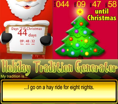Add Christmas Countdown Widgets