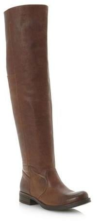 Bertie Talos tan leather over-the-knee boots