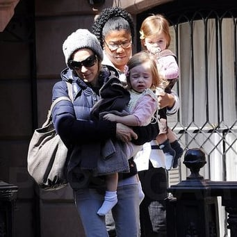Pictures of Sarah Jessica Parker With Twins Marion and Tabitha in NYC