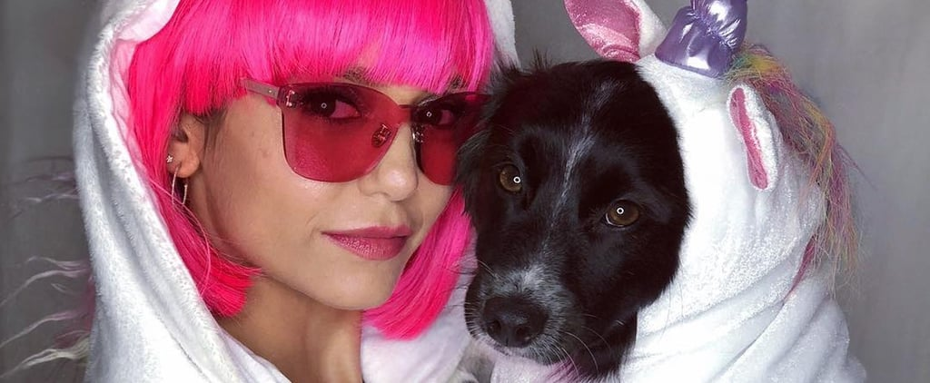 Nina Dobrev and Her Dog's Unicorn Costumes Halloween 2018