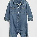 Boiler suits have been everywhere in the grown-up fashion world lately, and this Baby Denim One-Piece ($40) takes that exact style, but makes it miniature.