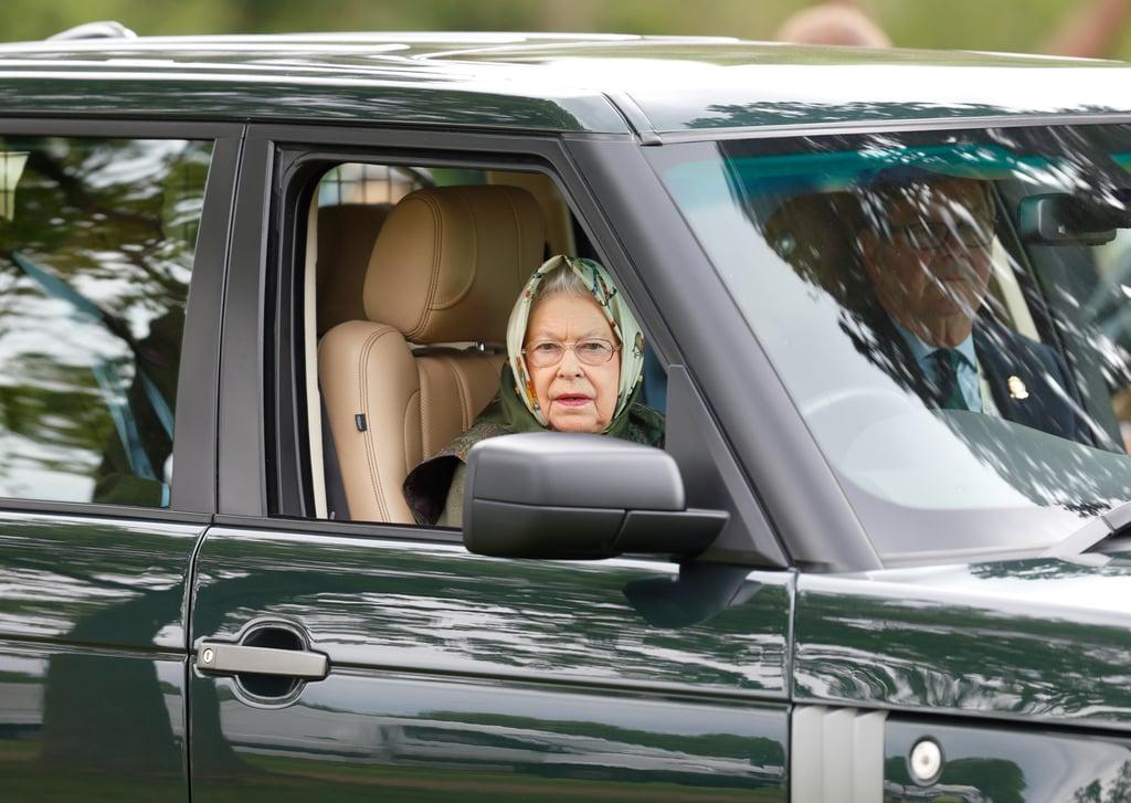 Queen Elizabeth II Driving Photos May 2017