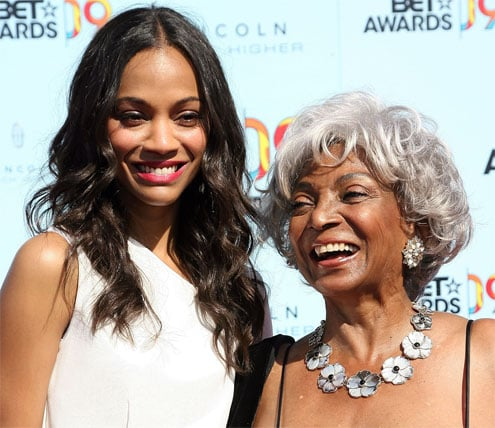 Nichelle Nichols and Zoe Saldana at 2009 BET Awards
