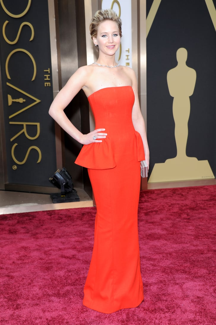 Jennifer Lawrence At The 2014 Oscars Oscars 2014 Dresses