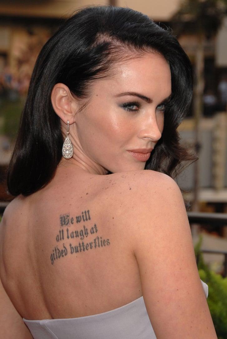 Megan fox beautiful celebrity tattoos popsugar beauty for My tattoo shop hollywood