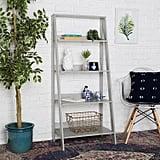 Gray Ladder Bookshelf