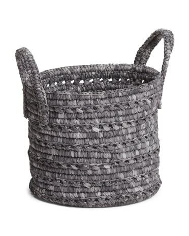 """12"""" woven rope basket ($25)"""