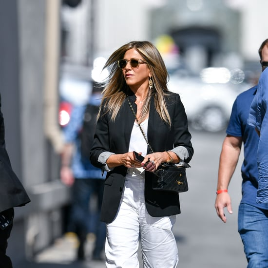 Jennifer Aniston's White Cargo Pants