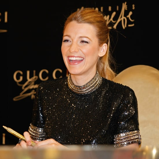 Blake Lively In Black Sequin Dress At Gucci Event