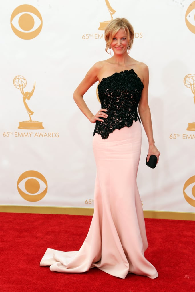Anna Gunn on the red carpet at the 2013 Emmy Awards.