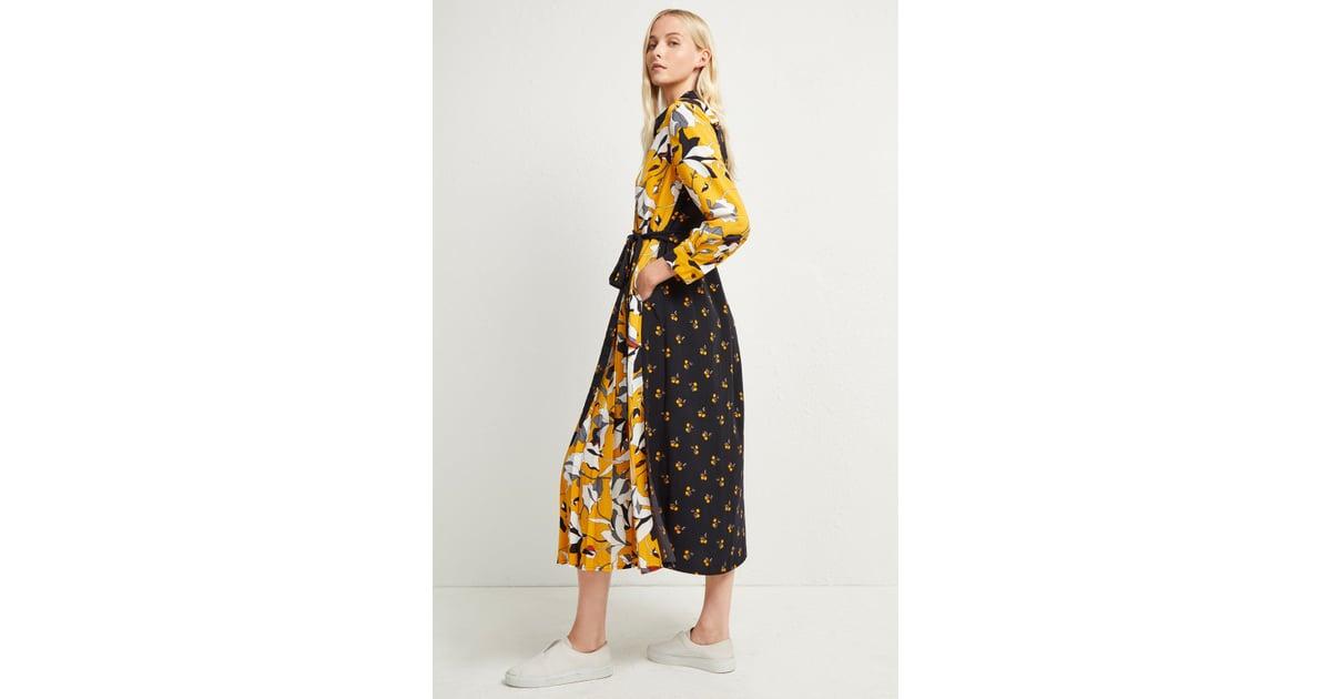 6f0e8d55a6f French Connection Aventine Drape Maxi Shirt Dress