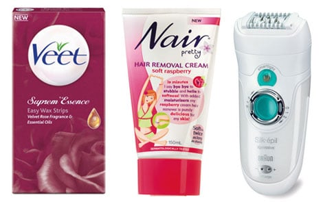 Different Forms of Hair Removal Including Shaving, Waxing, Epilators and Depilatory Cream