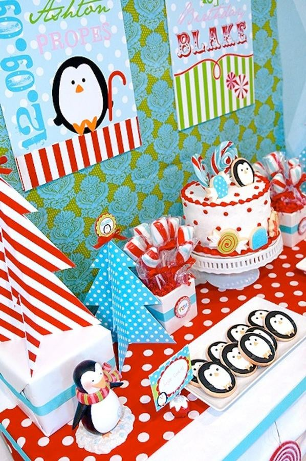 Winter Candy Land Party Desserts