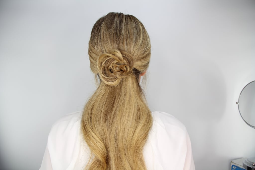 Flower Braid Ponytail How To