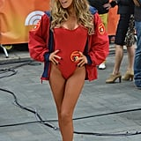 Carmen Electra channeled her old Baywatch character in 2013.