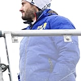 Prince Carl bundled up for the FIS Nordic World Ski Championship in Sweden in March 2015.