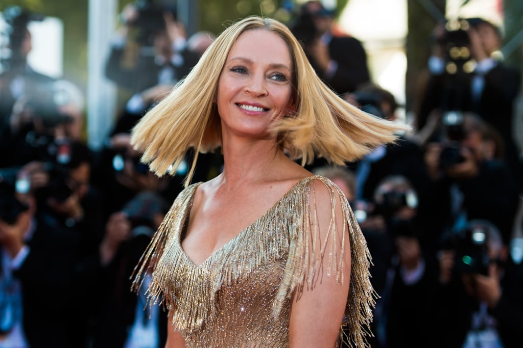 Uma Thurman made a sparkly appearance at the closing ceremony in 2017.