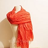 Coral Orange Infinity Scarf