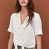 H&M Linen-Blend Blouse