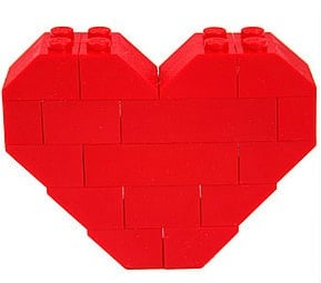 Pixelated Lego Heart Pin: Love It or Leave It?