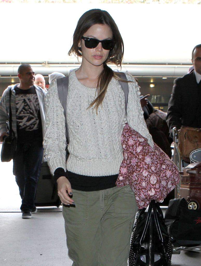 Rachel Bilson Looks Tough as She Heads Home