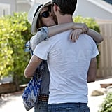 Anne and Adam shared a kiss in LA.
