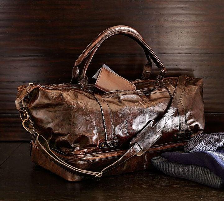 Saddle Leather Weekender Bag